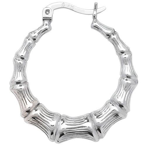 Sterling Silver Bamboo Earrings